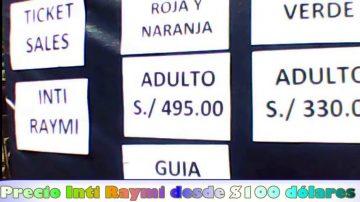 tickets inti raymi